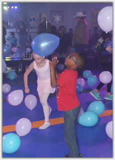 Two Kids Playing with Balloons